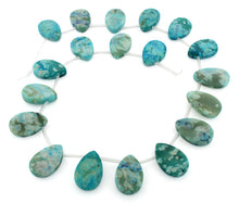 Load image into Gallery viewer, 14x21mm Drop S/D Turquoise Jasper Gem Stone Beads
