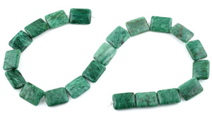 15x20MM Brazil Rainforest Jasper Rectangular Gemstone Beads