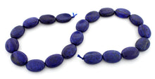 Load image into Gallery viewer, 15x20mm Dyed Lapis Lazuli Oval Gem Stone Beads