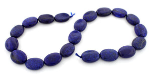 15x20mm Dyed Lapis Lazuli Oval Gem Stone Beads