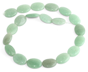 15x20MM Green Aventurine Oval Gemstone Beads