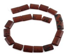 Load image into Gallery viewer, 15x20MM Mahogany Obsidian Rectangle Gemstone Beads