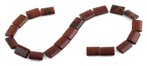 15x20MM Mahogany Obsidian Rectangle Gemstone Beads