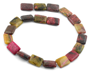 15x20mm Red Turtle Jasper Rectangular Beads