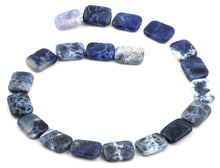 Load image into Gallery viewer, 15x20mm Sodalite Rectangular Beads