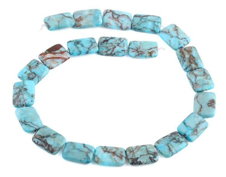 15x20MM Turquoise Rectangle Gemstone Beads