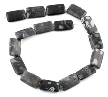 Load image into Gallery viewer, 15x25MM Bull Eye Jasper Rectangular Gemstone Beads