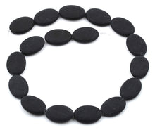 Load image into Gallery viewer, 17x24MM Frosted Blackstone Oval Gemstone Beads