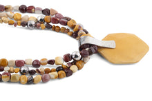"Load image into Gallery viewer, 18"" Sterling Silver and Mookaite Beads Necklace"
