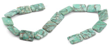 Load image into Gallery viewer, 18x25mm Green Matrix Rectangular Beads
