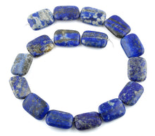 Load image into Gallery viewer, 18x25MM Lapis Rectangular Gemstone Beads