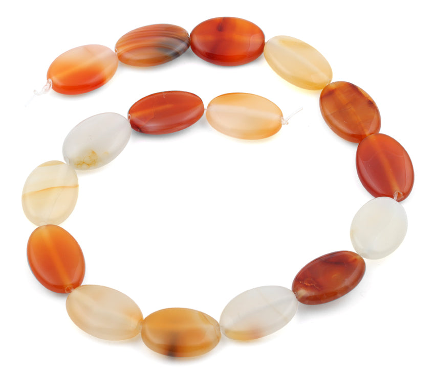 18x25MM Natural Carnelian Oval Gemstone Beads