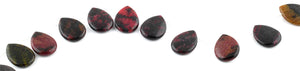 18x25MM Red Turtle Jasper Pear Gemstone Beads