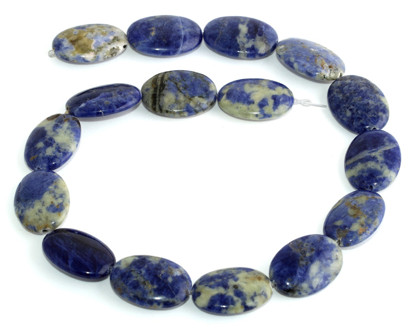 18x25MM Sodalite Oval Gemstone Beads