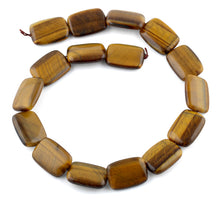 Load image into Gallery viewer, 18x25MM Tiger Eye Puffy Rectangular Gemstone Beads