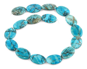 18x25MM Turquoise Oval Gemstone Beads
