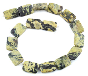 18x25MM Yellow Turquoise Puffy Rectangular Gemstone Beads