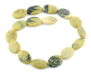 18x25MM Yellow Turtle Jasper Puffy Oval Gemstone Beads