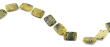 Load image into Gallery viewer, 18x25mm Yellow Turtle Jasper Rectangular Beads