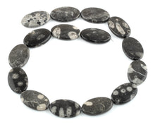 Load image into Gallery viewer, 18x28MM Bull Eye Jasper Oval Gemstone Beads