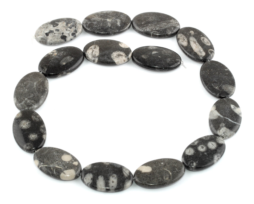 18x28MM Bull Eye Jasper Oval Gemstone Beads