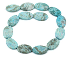 Load image into Gallery viewer, 20x30MM Dyed Turquoise Jasper Oval Gemstone Beads