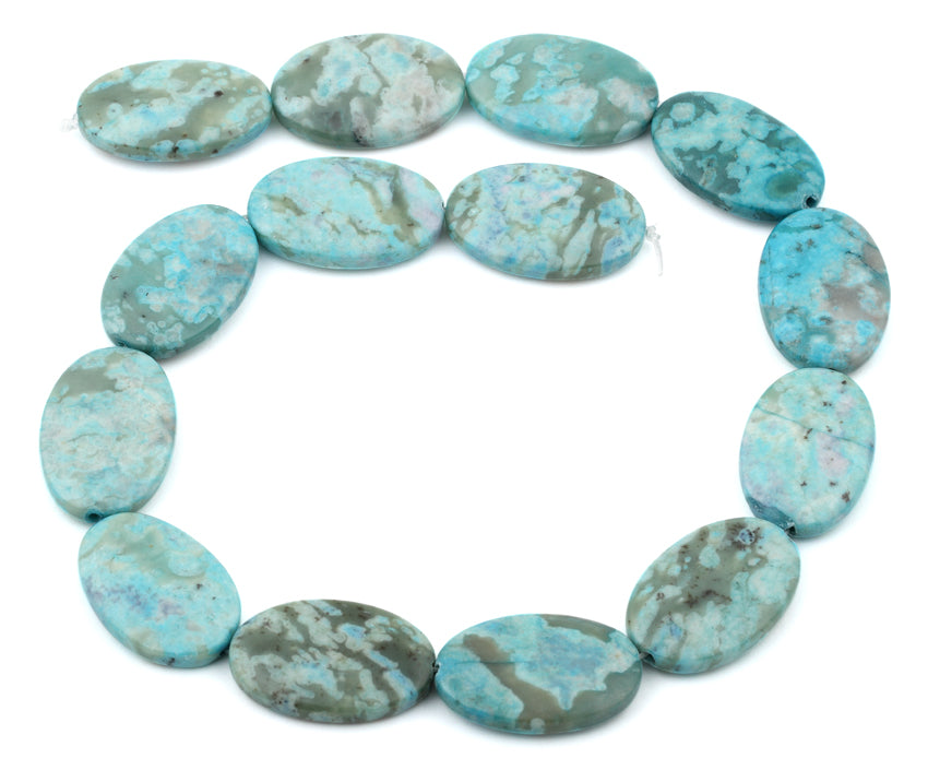 20x30MM Dyed Turquoise Jasper Oval Gemstone Beads