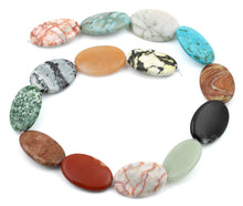 Load image into Gallery viewer, 20x30MM Multi-stones Puffy Oval Gemstone Beads