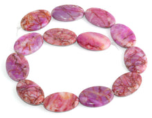 Load image into Gallery viewer, 20x30MM Pink Matrix Oval Gemstone Beads