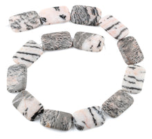 Load image into Gallery viewer, 20x30MM Pink Zebra Jasper Rectangular Gemstone Beads