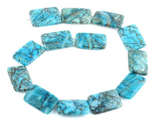 Load image into Gallery viewer, 20x30MM Turquoise Rectangle Gemstone Beads