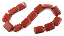 Load image into Gallery viewer, 22x30MM Red Stripe Jasper Rectangular Gemstone Beads