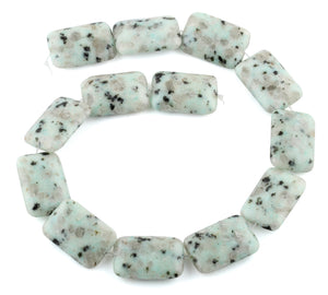 22x30MM Sesame Puffy Rectangular Gemstone Beads