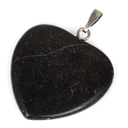 25mm Black Heart Pendant