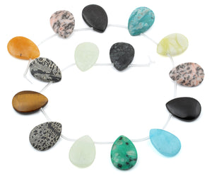 25x18MM Multi-stone Drop Gemstone Beads