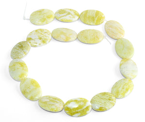 25x18MM Pineapple Jasper Puffy Oval Gemstone Beads