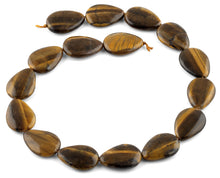 Load image into Gallery viewer, 25x18MM Tiger Eye Drop Gemstone Beads