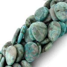 Load image into Gallery viewer, 25x30mm Drop Turquoise Jasper Gem Stone Beads