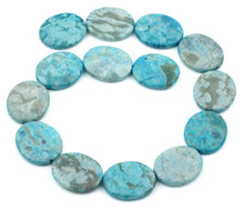 Load image into Gallery viewer, 25x30MM Dyed Turquoise Jasper Oval Gemstone Beads