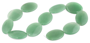 25x35MM Green Aventurine Oval Gemstone Beads