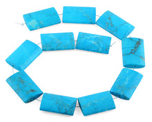 Load image into Gallery viewer, 25x35MM Turquoise Howlite Rectangle Gemstone Beads