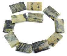 Load image into Gallery viewer, 25x35MM Yellow Turquoise Puffy Rectangular Gemstone Beads