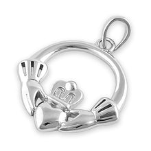 Load image into Gallery viewer, Sterling Silver Claddagh Pendant