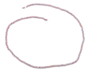 2mm Clear Purple Faceted Rondelle Crystal Beads