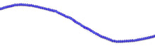 Load image into Gallery viewer, 2mm Dark Blue Faceted Rondelle Crystal Beads