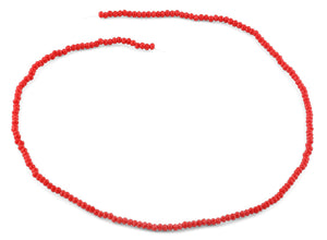 2mm Red Faceted Rondelle Crystal Beads