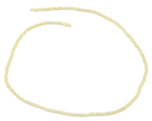 2mm Yellow Faceted Rondelle Crystal Beads