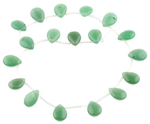 Load image into Gallery viewer, 18x13MM Green Aventurine Drop Gemstone Beads