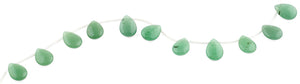 18x13MM Green Aventurine Drop Gemstone Beads