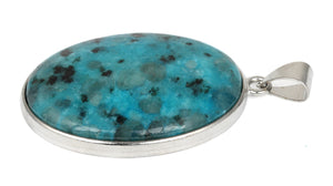 30X40MM Oval Aqua Quartz Gemstone Pendant